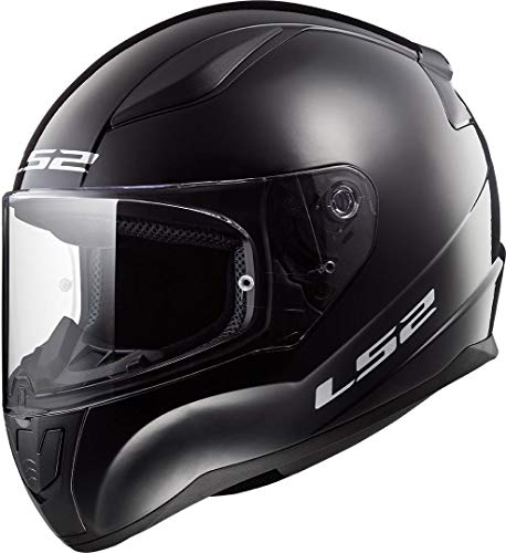 LS2 Rapid Mini Casco de Moto, Infantil, Negro Brillante, Large