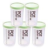 WHZG Recipientes Humedad Kitchen Caja De Almacenamiento Contenedor Sellado Paquete De Plástico Transparente Botes para Alimentos (Color : Green)