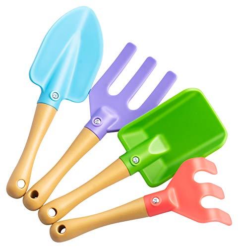 UPP Juego de 4 juguetes de jardinería para niños de 18 meses y hasta I de alta calidad para arena. DIN EN71 y certificado CE