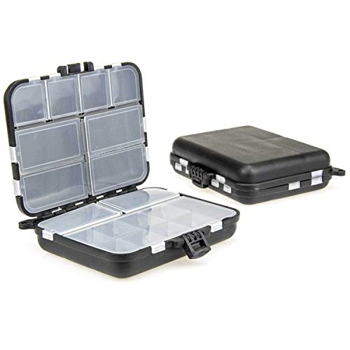 TheBigFish - Kleinteilebox - Black Edition - Ideal für Wirbel, Bleie, Haken etc.