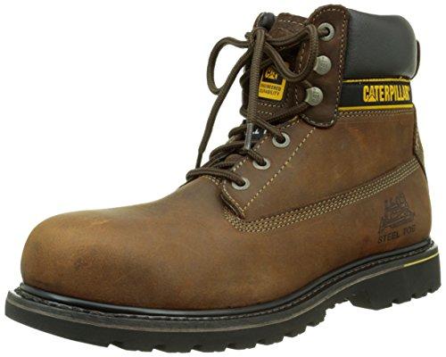 Cat Footwear Holton sb, Stivali antinfortunistici uomo, Marrone (Dark Brown), 44