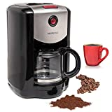 Programmable Grind & Brew Auto Start Coffee Maker with Built–in Burr Coffee Grinder, Washable Coffee Filter & Scoop Included, Coffee Grinder And Maker All In One By Mixpresso
