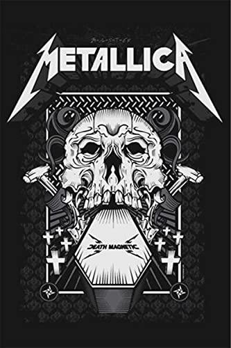 No/Brand Metallica Cartel de Chapa Retro Metal Pintado Arte Cartel Dec