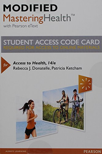 Modified MasteringHealth with Pearson eText -- Standalone Access Card -- for Access to Health (14th Edition)