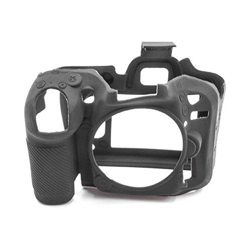 vhbw Kamera Hülle Tasche kompatibel mit Nikon D7100, D7200 Kamera, Silikon schwarz