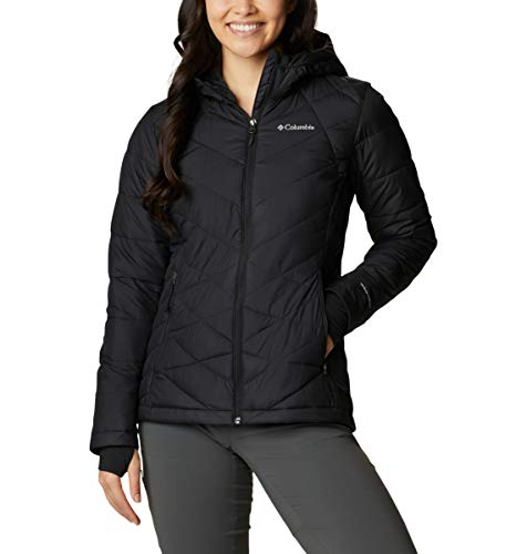 Columbia Women's Heavenly Hooded Jacket, Insulated, Black, Large