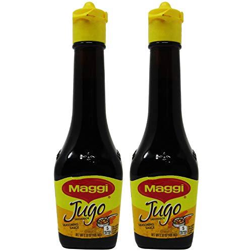 Jugo Maggi Seasoning Sauces Lot Of Two 3.38 oz Each Glass Bottles Sealed