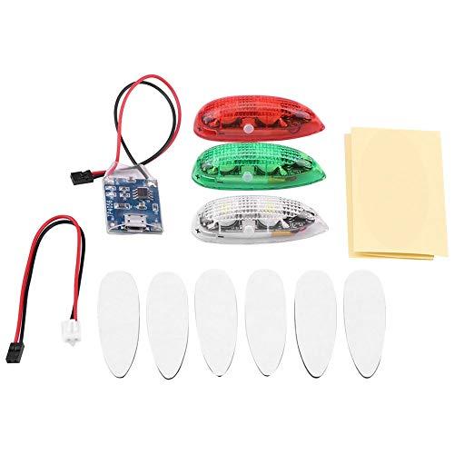 Xinwoer Tragbare Drohnen-Lichter, drahtloses Licht des Drohnen-Blitz-LED 3pcs/Set für RC-Verlegenheits-Flügel-Flugzeug-Hubschrauber