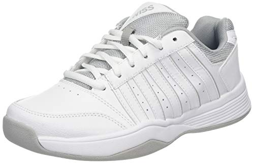 K-Swiss Performance Damen Court Smash Carpet M Tennisschuhe, Weiß (Wht/Wht/High-Rise, 6 000070594), 39.5 EU