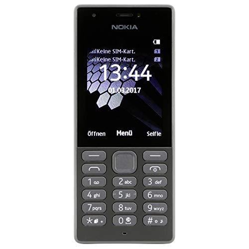 Nokia 216 Mobiltelefon (VGA Kamera, bis zu 25 Tage Akkulaufzeit, Bluetooth, UKW Radio, MP3 Player, Taschenlampe, Weckfunktion, Dual Sim) schwarz
