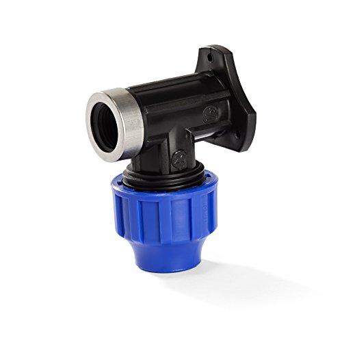 H2O-Flex PP-Fitting, Klemmverbinder - 20er Wandwinkel mit 1/2