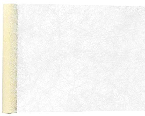 Tischläufer Creme - aus Faserseide - 30 cm - 5 m - Tischdekoration Hochzeiten - Tischdecken - Tischband - Fanon