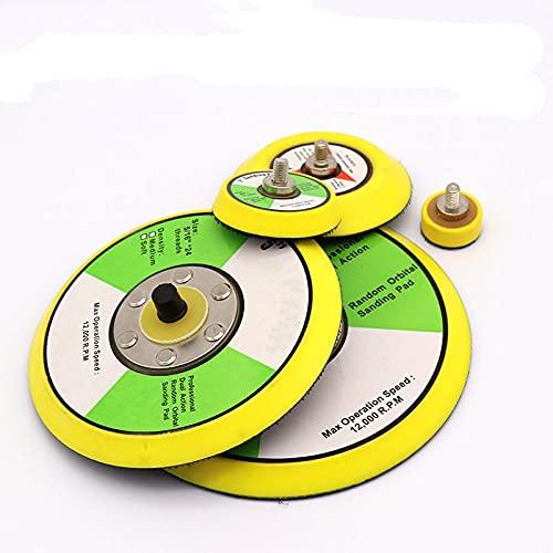 1 unidad de disco de lijado de pulido, almohadilla de ventosa autoadhesiva neumática, disco adhesivo de 1-6 pulgadas, ventosa de papel de lija para amoladora eléctrica, 2 pulgadas
