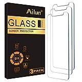 Ailun (アイル) ガラス スクリーン保護シート iPhone 12 mini 2020発売 5.4インチ用 3枚パック 強化ガラス