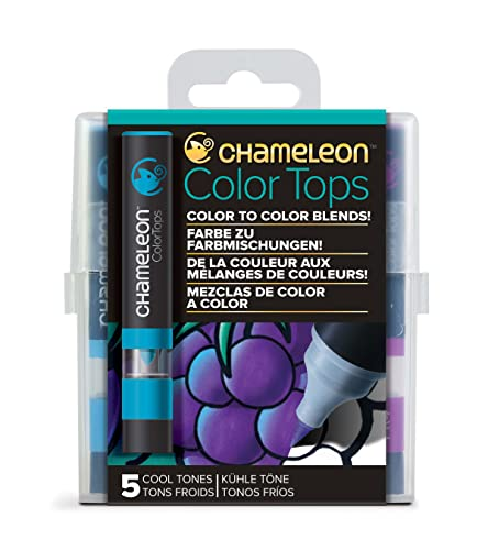 Chameleon Art Products - 5 Color Tops; Farbe zu farbmischungen; Kühle Töne