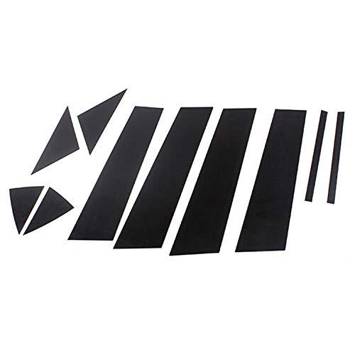 Basage 10 StüCk Spiegel Effekt Kunststoff Fenster S?Ulen Pfosten Zierleisten Set für 3 xela 14-17
