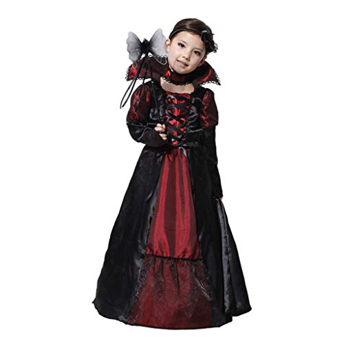 nihiug Costume Cosplay di Halloween Costume Cosplay Palla Costume Ragazza Principessa Abito Vampiro Veleno Regina,Photo Color-L