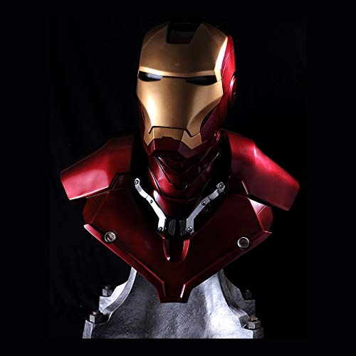 Byx- Iron Man Helm - (lebende Größe) 1: 1 Große Statue LED Eye kann beleuchtet Werden - Harzmaterial @