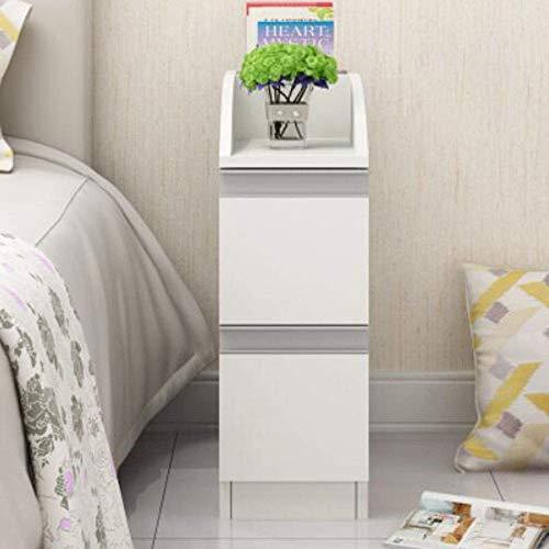 N/Z Wohngeräte Nachttisch Mini-Lagerschrank Schlafzimmer Massivholz Nachttisch Multifunktions-Werkbank (Farbe: Schwarznuss 20 cm)