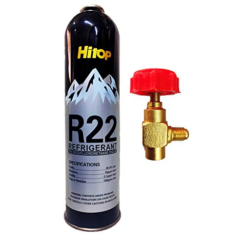 R22 Gas Can with Can Valve Refrigerant Net Weight 1 kg for Air Conditioner/Gas Weight 800 Gram by Jagdish Refrigeration