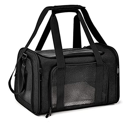 Reisetasche für Haustiere,Pet Carriers Hundetasche,Tragetasche für Groß Katze Hund Transporttasche Katzentransportbox,Atmungsaktives Netz Faltbare Hundetransportbox,Kann 9 kg, 50 * 31 * 31CM Tragen
