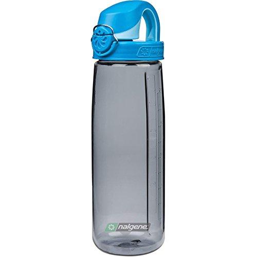 Nalgene Kinder Trinkflasche oTF, - Grau/Deckel Blau-Hellblau, 0,7 l