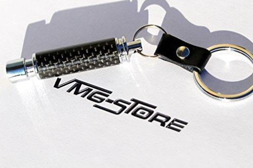 VmG-Store Carbon Schwarz Auspuff Schlüsselanhänger Felge BBS Turbo Keychain Tuning Auto