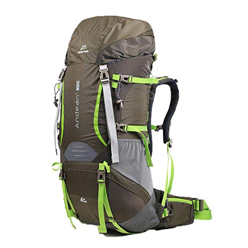 RatenKont 70L Outdoor Travel Hiking System Breathable Backpack Outdoor Camping Climbing Hiking Green 50-70L