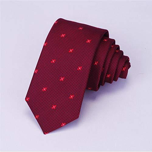 FDHFC stropdassen voor mannen, dunne stropdas 6 cm dunne stropdas bloemen plaid rode stropdas blauwe stropdas voor mannen feestjes business bruiloft pak