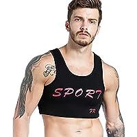 Sallydream Camiseta de Tirantes para Hombres Hombre Baloncesto Balompié Fútbol Entrenamiento con Pesas Deportes Chaleco Protector de Pecho Chaleco para Hombre