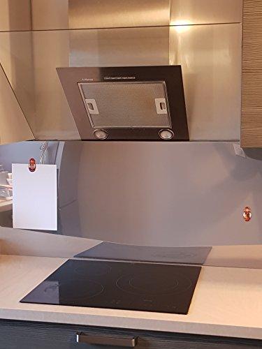 AluCouleur Fond de hotte/Crédence INOX Magnétique-8 Tailles-Hauteur 60 cm x (Longueur 90 cm)