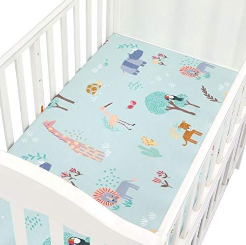 PENVEAT 100% Baumwolle Kinderbett Spannbetttuch Weiche Babybett Matratzenbezug Schutz Und Elastische Bettlaken Cartoon Neugeborenen Bettwäsche, CLS0046