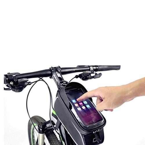Fahrradtaschen Frontrahmen Tasche Wasserdichte Lenker Radfahren Oberrohr Pannier Touch Screen Sonnenblende Große Kapazitäts-handy-halter-fits-telefone Unter 6 Inches
