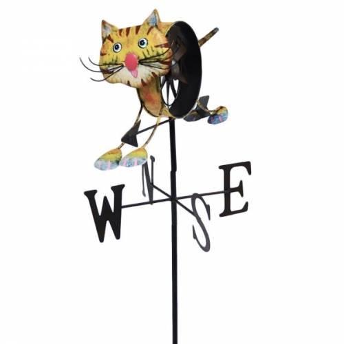 Girouette moulin à vent Chat + mat