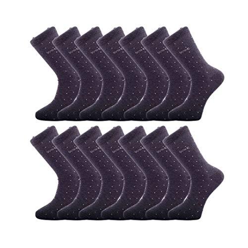 Paquete de 14 pares de calcetines de algodón de lujo transpirables e inteligentes para hombres - Calcetines respetuosos con el medio ambiente de algodón reciclado