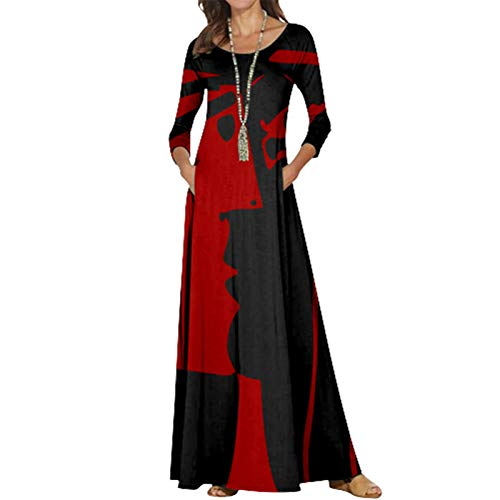 Vestidos Largos De Fiesta para Bodas De Noche Fiesta Patrón De Cebra Péndulo Grande Cintura Suelta Cuello Redondo Fiesta Cóctel Vestido Fiesta Mujer Talla Grande,Negro,6XL