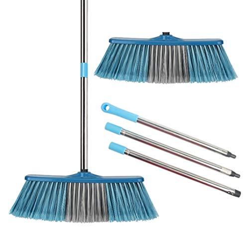 Saddpa Grote vloerreinigingsborstel, verstelbare steel, borstelharen, groot, brooms, scrubber, voor het reinigen van buitentuin, magazijn