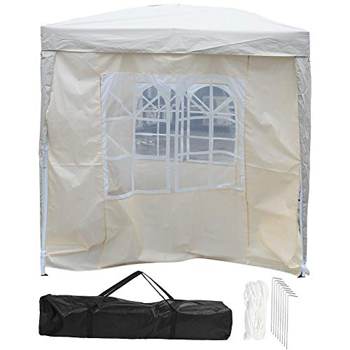 Dioche Waterproof Garden Gazebo 2X2m Folding Garden Tent for Market Parties with Carry Bag, Wedding Pavilion Party, White