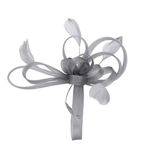 IBLUELOVER Horquilla Boda Pluma Mujer Peinado Flores Sombrero Fascinator Fascinator Accesorios nupciales...