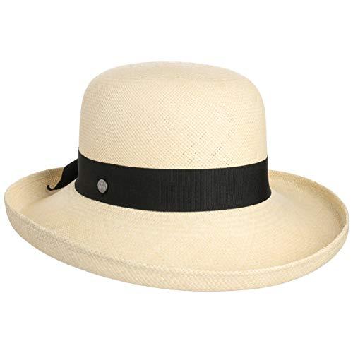 Lierys Cappello Panama Pasadena Donna - Made in Ecuador Paglia di Estivo con Nastro Grosgrain, Grosgrain Primavera/Estate