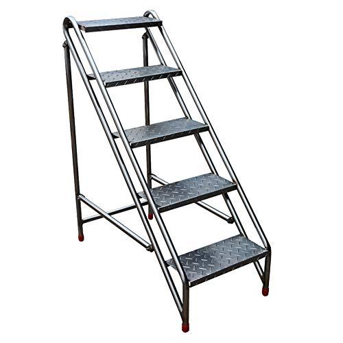 Taburete de Paso Plegable Simple de Acero Inoxidable Escalera de Espiga Multifuncional para el hogar, Escalera de Escalada móvil para Interiores y Exteriores