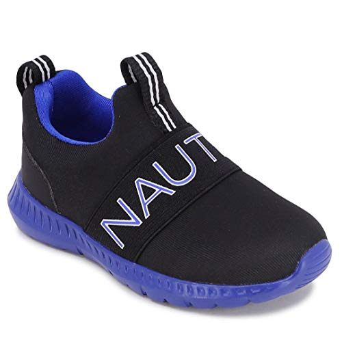 Nautica Kids Boys Fashion Sneaker Slip-On Athletic Running Shoe for Toddler and Little Kids-Canvey Toddler-Black Cobalt Os-6