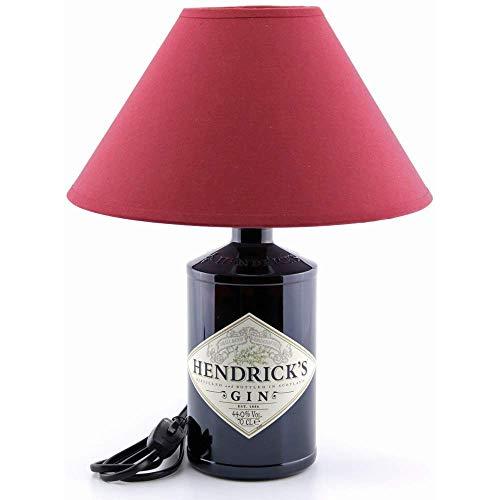 Dekoflasche Hendrike - Hendricks Gin - originelle Dekolampe Tischlampe mit Stoffschirm I individuelle Tischleuchte E27 modern - Stehlampe Flaschenlicht Dekoleuchte