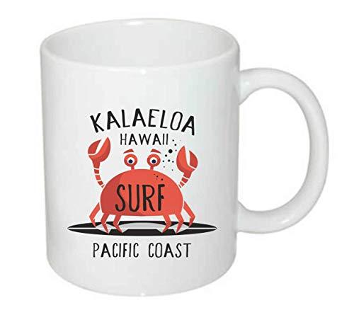 Druckerlebnis24 Tasse - Hawaii Krebs Surfen Krabbe - Kaffee-Tasse 330ml - Unisize aus Keramik - Tee