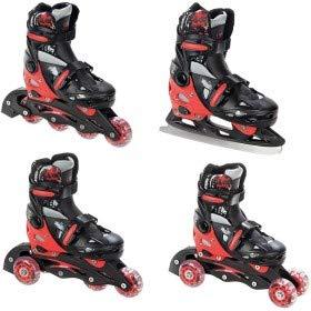 Croxer 4/in 1/Inline//Triskates//Quad Adjustable Roller skates//Ice Skates Singer