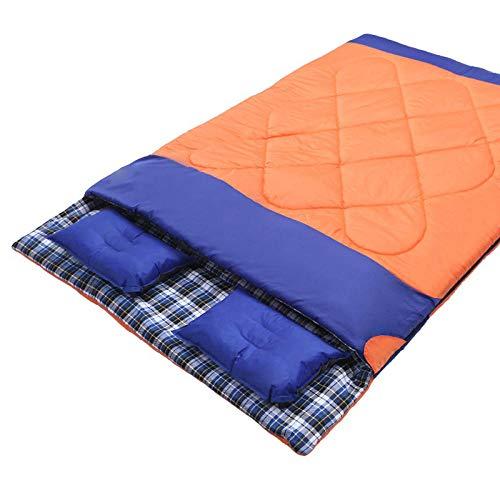 DLSM Doppelschlafsack Paar Baumwolle Schlafsack Frühling und Herbst Winter Verdickung Schlafsack Outdoor tragbare Camping Erwachsenen Schlafsack