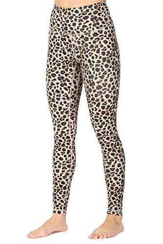 Sunzel High Waist Leggings for Women, Squat Proof Workout Pants with Tummy Control, 4 Way Stretch & Buttery Soft & Sweat Wicking (Beige Leopard, M)