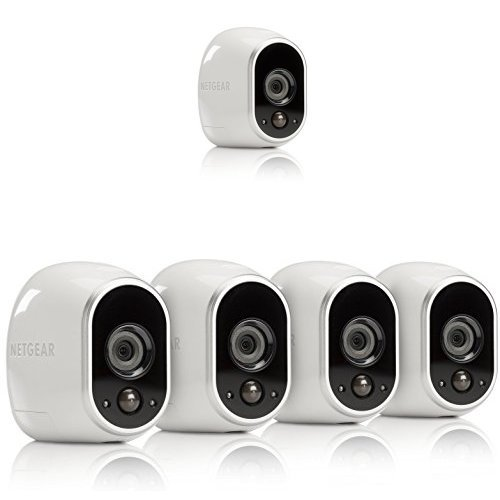 Arlo Smart Home Security Camera System – Five-Camera Bundle: One Camera with Base Station and Four Add-on Cameras