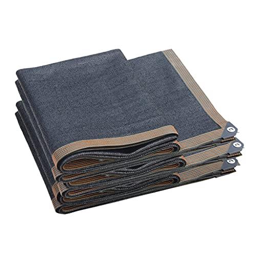 ZDDZ Paño de Sombra 90% Negro con Panel de Sombra de Malla de Borde de Ojal Paño de Sombra de Jardín para Plantas Invernadero Piscina Patio Césped