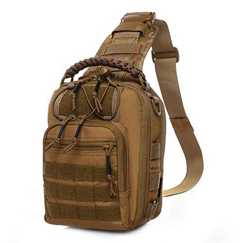 ANTARCTICA タクティカルスリングバッグパック ミリタリーレンジローバーショルダーバックパック MOLLEレンジバッグ EDC スモールデイ パッド入りポケット付き